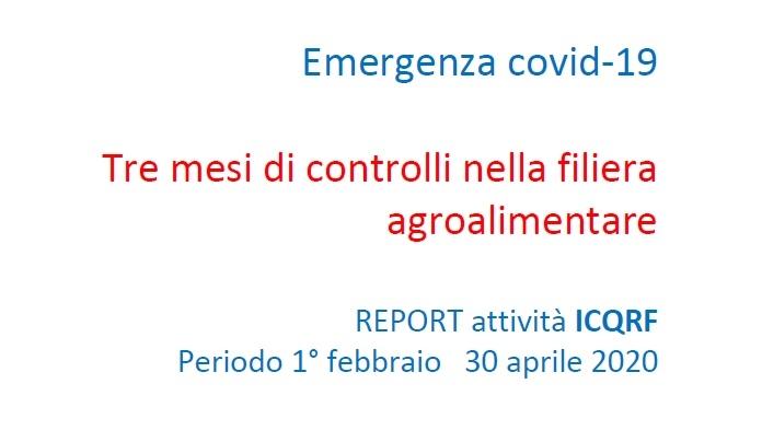 Report controlli alimentari - COVID-19
