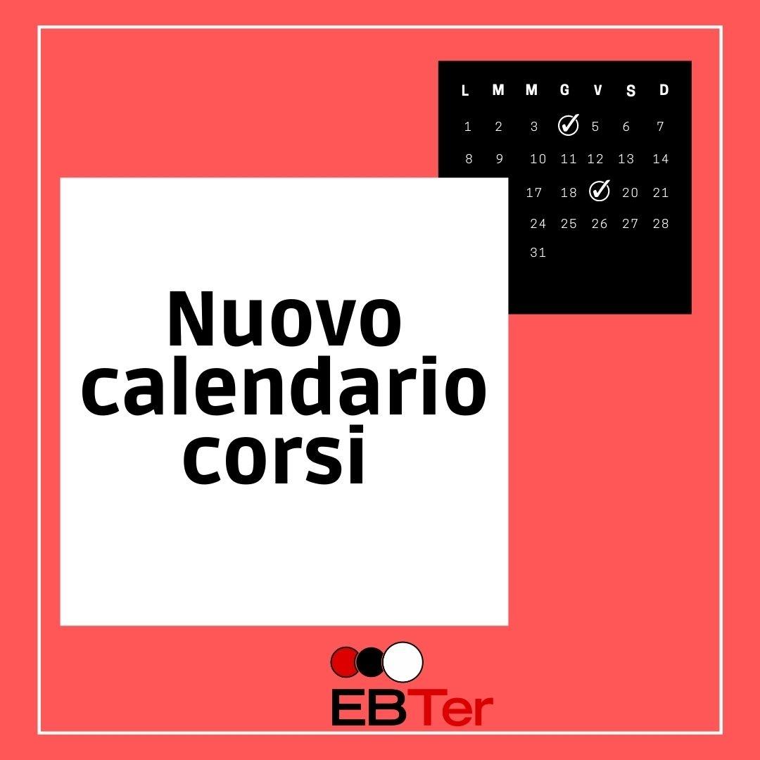 EBTer nuovo calendario formazione – secondo semestre 2021