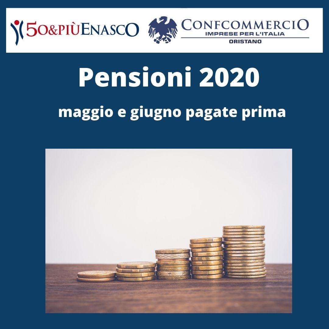 Dal Patronato - Pensioni 2020: maggio e giugno pagate prima
