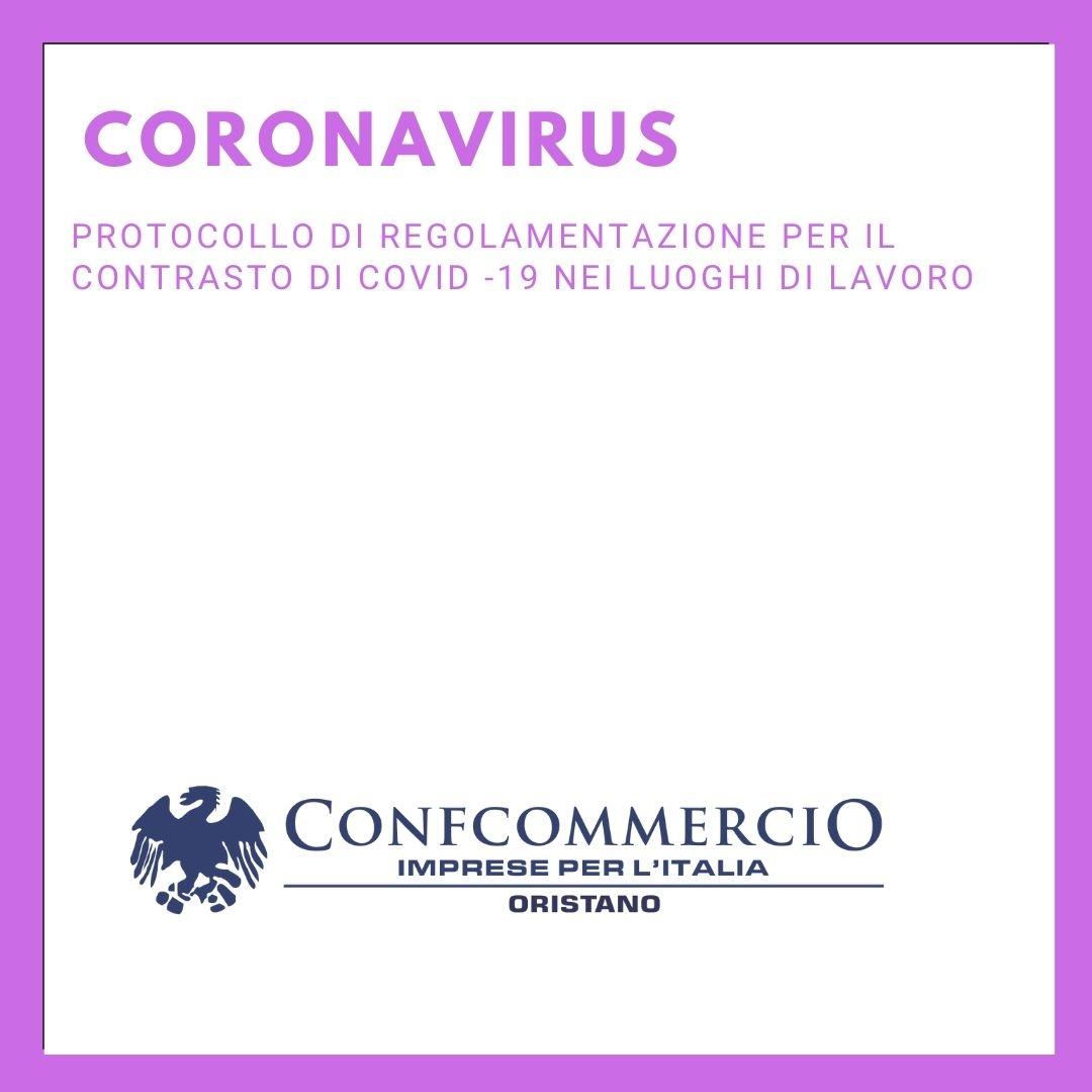 Protocollo di regolamentazione per il contrasto di COVID -19 nei luoghi di lavoro