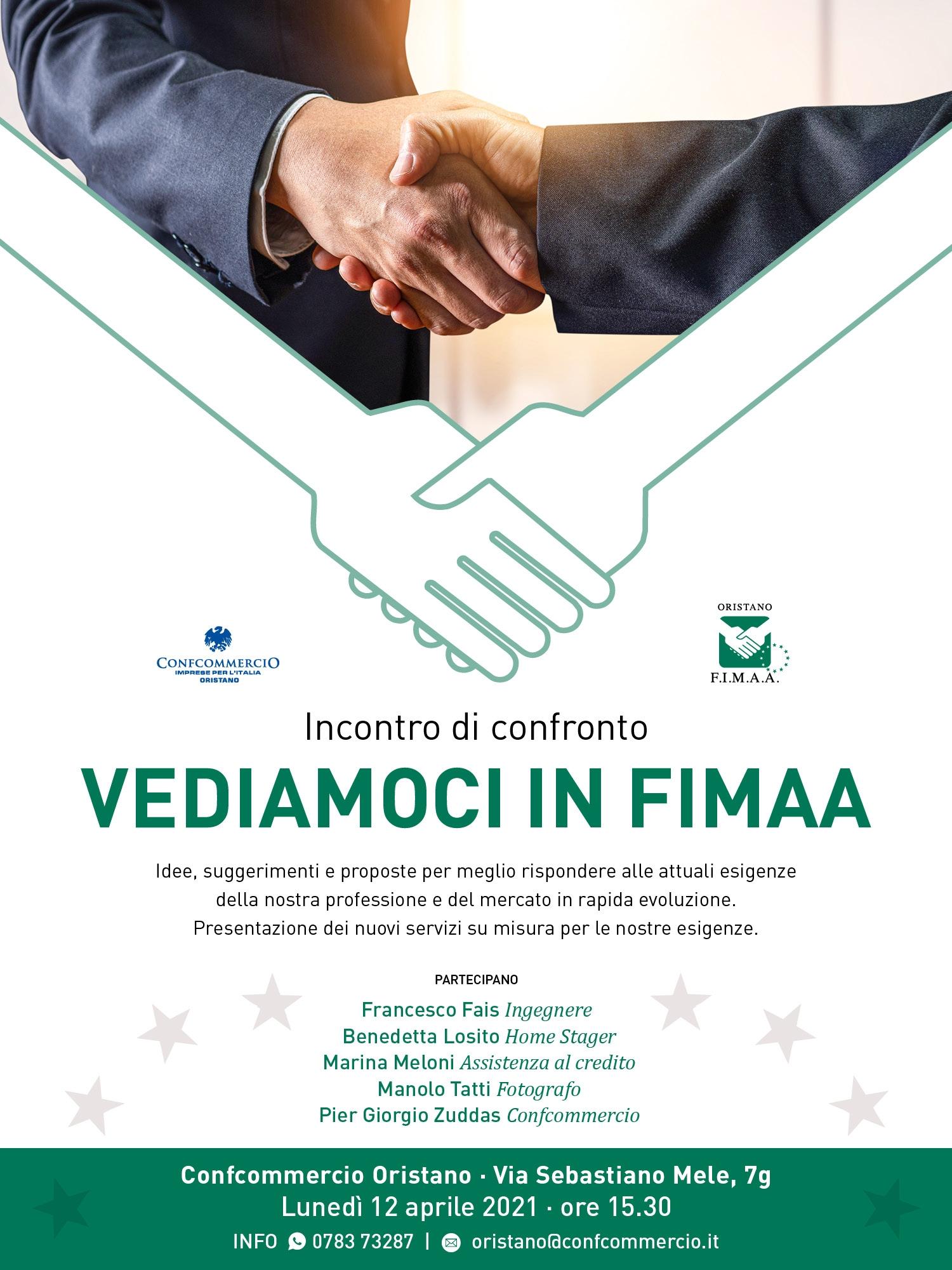 Vediamoci in FIMAA - lunedì 12 Aprile ore 15.30