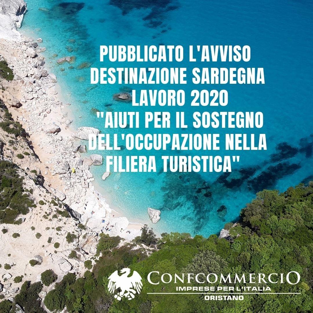 Pubblicato l'avviso Destinazione Sardegna Lavoro 2020