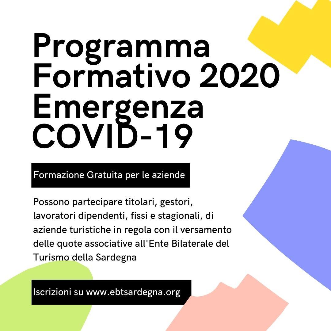 Ente Bilaterale Turismo Programma Formativo 2020 - Emergenza COVID 19