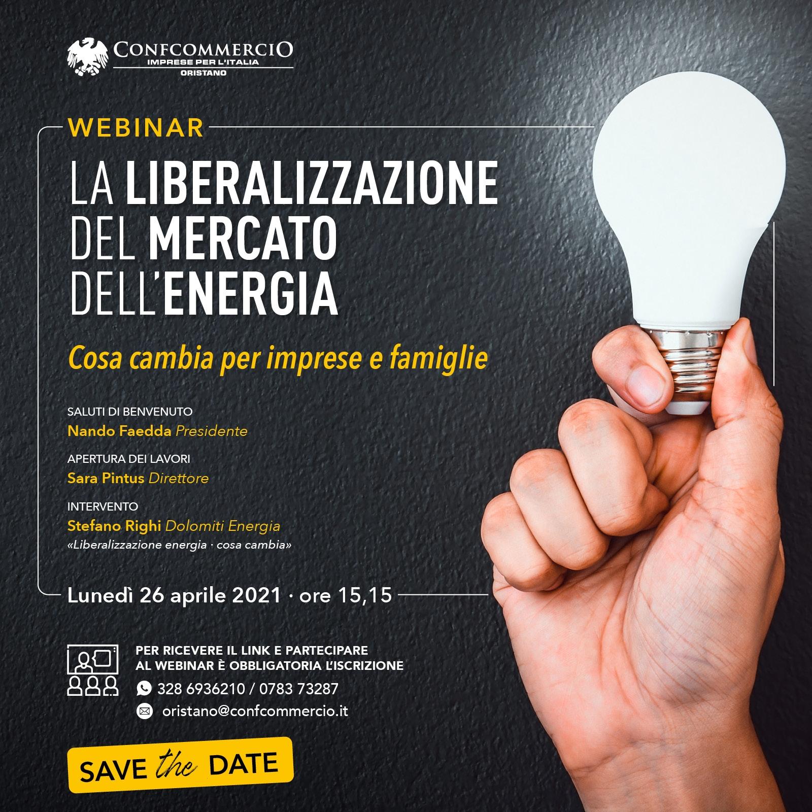 La liberalizzazione del mercato dell'energia - Webinar