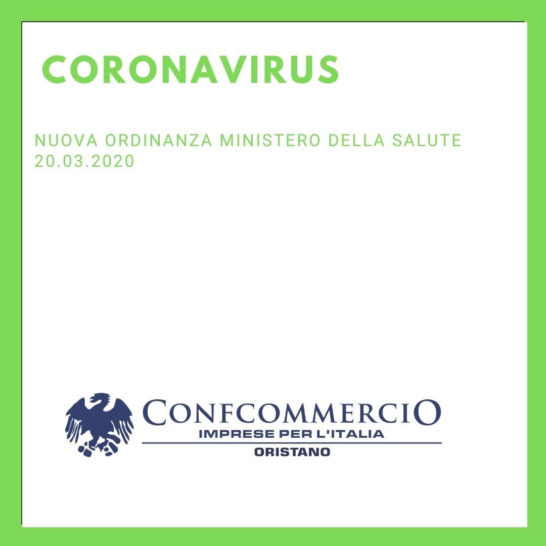 Nuova ordinanza Ministero della salute 20.03.2020
