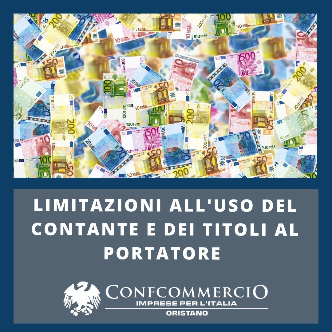 Limitazioni all'uso del contante e dei titoli al portatore