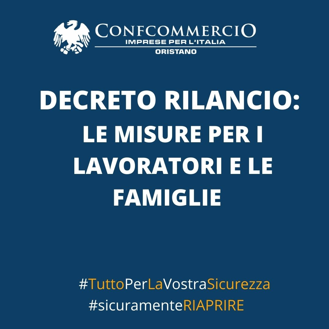 Decreto rilancio: le misure per i lavoratori e le famiglie