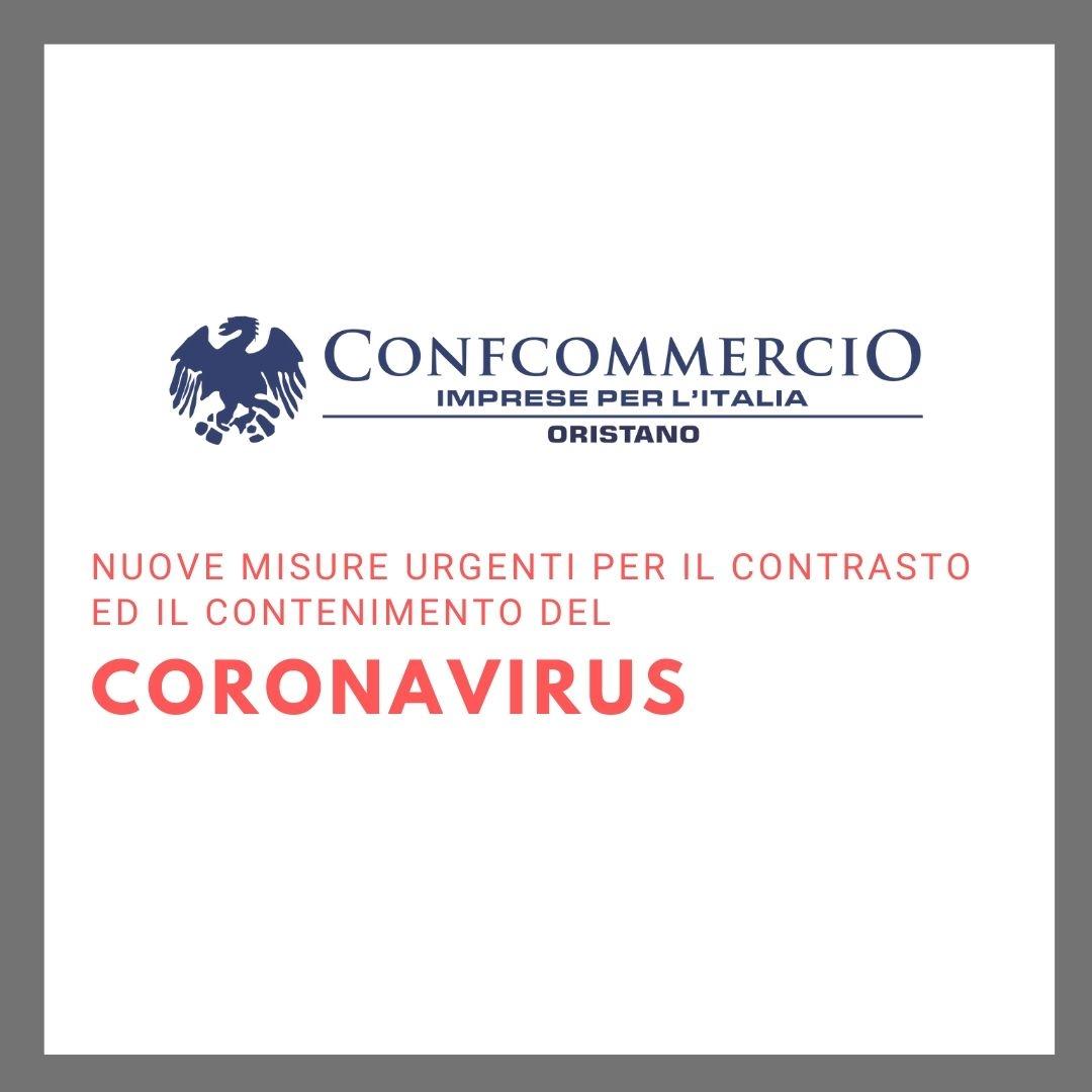 COVID -19 ULTERIORI MISURE PER IL CONTENIMENTO